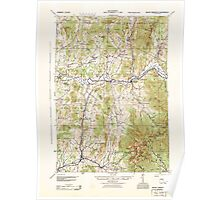 USGS Topo Map  Vermont VT Mount Mansfield 338098 1944 62500 Poster
