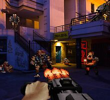 Duke Nukem 3D Night District by VictorSauron