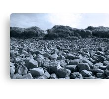 rocky beach in Kerry blue Canvas Print