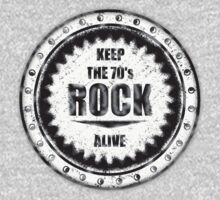 Keep The 70's Rock Alive Vintage BGW decoration Clothing & Stickers	 by goodmusic
