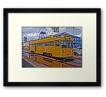 HEAVY HDR BLACKPOOL TRAM Framed Print
