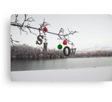 SNOW on the Tree Canvas Print