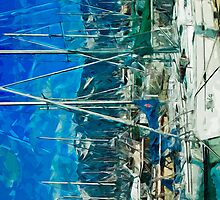 Harbor of Seward Alaska Abstract Impressionism by pjwuebker