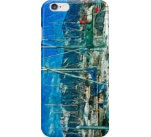 Harbor of Seward Alaska Abstract Impressionism iPhone Case/Skin
