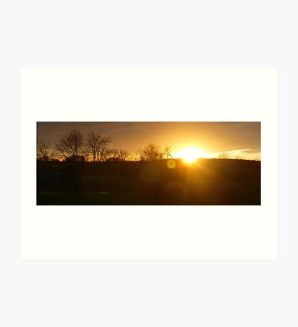 Sunset in Aberdeenshire Art Print