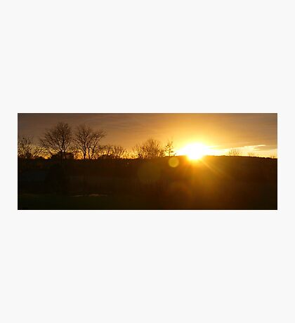 Sunset in Aberdeenshire Photographic Print