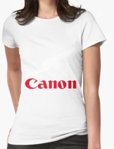 The power of canon Womens Fitted T-Shirt