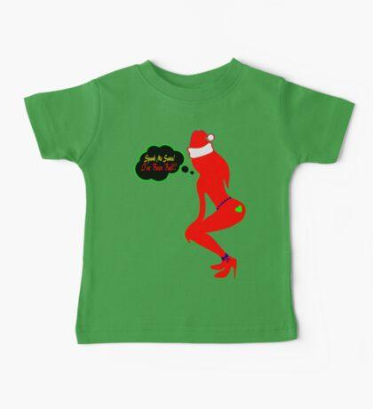 ټ♪♥Spank Me Santa, I've been Bad-Naughty-Fun X-Mas Clothing & Stickers♥♪ټ    Baby Tee