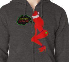 ټ♪♥Spank Me Santa, I've been Bad-Naughty-Fun X-Mas Clothing & Stickers♥♪ټ    Zipped Hoodie