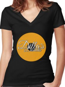 Dilla's Donuts Tee Women's Fitted V-Neck T-Shirt