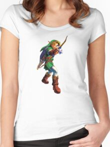 Link with bow Women's Fitted Scoop T-Shirt