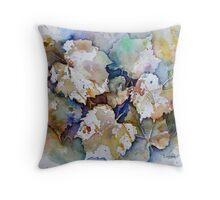 Water Colour Negative Painting Throw Pillow