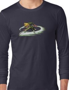 Link fighting with sword Long Sleeve T-Shirt