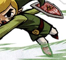 Link fighting with sword Sticker