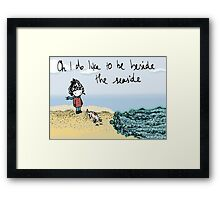 Seaside Girl Framed Print