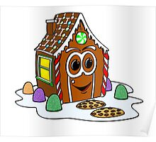 Gingerbread House Cartoon Poster