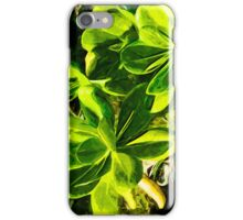 Green Succulent Ocean Beach Plant Abstract Impressionism iPhone Case/Skin