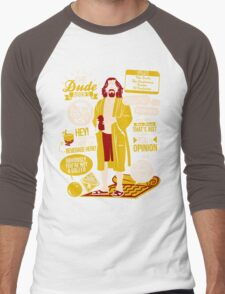 The Dude Quotes Men's Baseball ¾ T-Shirt