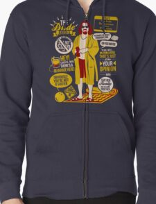 The Dude Quotes Zipped Hoodie