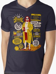 The Dude Quotes Mens V-Neck T-Shirt