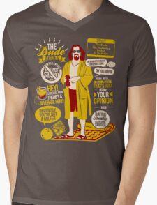 The Dude Quotes Mens V-Neck T-Shirt
