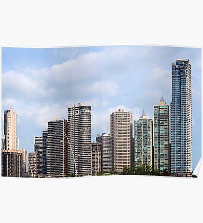 Panama City skyline, Panama. Poster