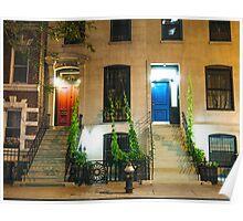 Red Door and Blue Door - New York City Poster