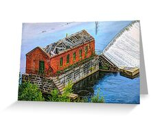 Water power is harnessed by early New England industry.  Greeting Card