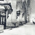 Winter Night - Snow Falls in the Big Apple - New York City by Vivienne Gucwa