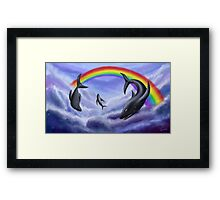 Dolphins Flight Framed Print