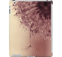 droplets of dusty pink iPad Case/Skin