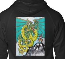 final fight (vertical) back Zipped Hoodie