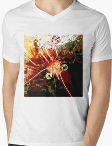 Red Night Shrimp Mens V-Neck T-Shirt