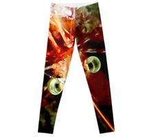Red Night Shrimp Leggings