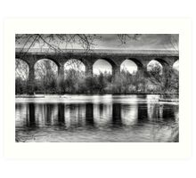 Viaduct at Reddish Vale Country Park Art Print