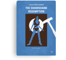 No246 My THE SHAWSHANK REDEMPTION minimal movie poster Canvas Print