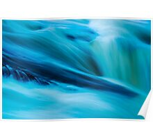 Impressionistic water chute Poster