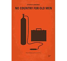 No253 My No Country for Old men minimal movie poster Photographic Print