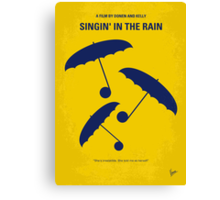 No254 My SINGIN IN THE RAIN minimal movie poster Canvas Print