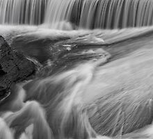 Water falls black and white by MichaelBachman
