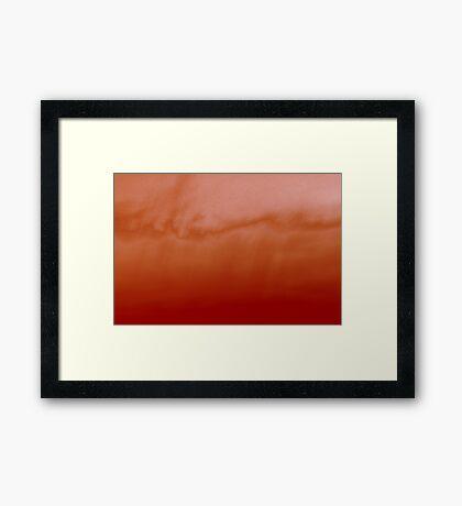sunset experiment - 2 Framed Print