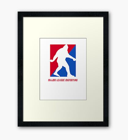 MLB Major League Bigfooting  Framed Print