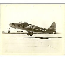 First Full Test Flight XP-84 Photographic Print