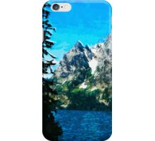 Wyoming Grand Tetons Mountains Abstract Impressionism iPhone Case/Skin