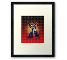 Optimus Prime - G1 Style Backdrop Framed Print