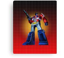 Optimus Prime - G1 Style Backdrop Canvas Print
