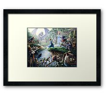 Alice In Wonderland : Controlled Chaos  Framed Print