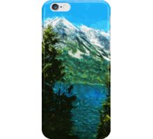 Wyoming Grand Teton Mountains Abstract Impressionism iPhone Case/Skin