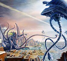 War of the Worlds Vs. Cthulhu  by ItoSaithWebb