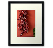 dried peppers Framed Print